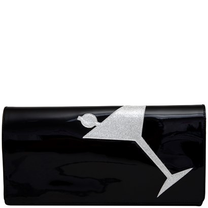 Clutch purse with martini design